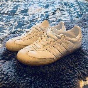All white adidas Samba OG